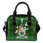 Flower Ireland Shoulder Handbag Irish National Tartan  | Over 1400 Crests | Bags | Water-Resistant PU leather