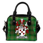 Delahay Ireland Shoulder Handbag Irish National Tartan    Over 1400 Crests   Bags   Water-Resistant PU leather