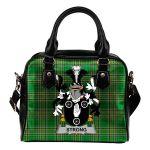Strong Ireland Shoulder Handbag Irish National Tartan  | Over 1400 Crests | Bags | Water-Resistant PU leather