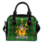 Vandeleur Ireland Shoulder Handbag Irish National Tartan  | Over 1400 Crests | Bags | Water-Resistant PU leather