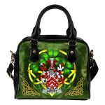 Garvey or O'Garvey Ireland Shoulder HandBag Celtic Shamrock | Over 1400 Crests | Bags | Premium Quality