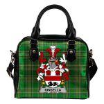 Kinsella or Kinsellagh Ireland Shoulder Handbag Irish National Tartan  | Over 1400 Crests | Bags | Water-Resistant PU leather