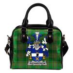 Richardson Ireland Shoulder Handbag Irish National Tartan    Over 1400 Crests   Bags   Water-Resistant PU leather
