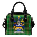 Borough Ireland Shoulder Handbag Irish National Tartan    Over 1400 Crests   Bags   Water-Resistant PU leather