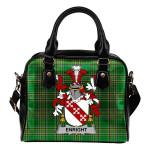 Enright Ireland Shoulder Handbag Irish National Tartan  | Over 1400 Crests | Bags | Water-Resistant PU leather