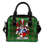 Henry or O'Henry Ireland Shoulder Handbag Irish National Tartan  | Over 1400 Crests | Bags | Water-Resistant PU leather