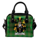 Tisdall or Tisdale Ireland Shoulder Handbag Irish National Tartan  | Over 1400 Crests | Bags | Water-Resistant PU leather