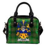 Fisher Ireland Shoulder Handbag Irish National Tartan  | Over 1400 Crests | Bags | Water-Resistant PU leather