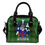 Pendleton Ireland Shoulder Handbag Irish National Tartan  | Over 1400 Crests | Bags | Water-Resistant PU leather