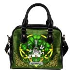 Connell or O'Connell Ireland Shoulder HandBag Celtic Shamrock | Over 1400 Crests | Bags | Premium Quality
