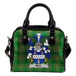 Bell Ireland Shoulder Handbag Irish National Tartan  | Over 1400 Crests | Bags | Water-Resistant PU leather
