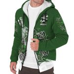 Davis Ireland Sherpa Hoodie Celtic Irish Shamrock and Sword | Over 1400 Crests | Clothing | Apparel
