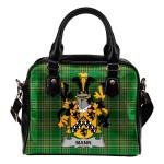 Mann Ireland Shoulder Handbag Irish National Tartan  | Over 1400 Crests | Bags | Water-Resistant PU leather