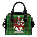 Carney Ireland Shoulder Handbag Irish National Tartan  | Over 1400 Crests | Bags | Water-Resistant PU leather