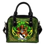Fitz-Herbert Ireland Shoulder HandBag Celtic Shamrock | Over 1400 Crests | Bags | Premium Quality