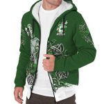 Finnerty or O'Finaghty Ireland Sherpa Hoodie Celtic Irish Shamrock and Sword | Over 1400 Crests | Clothing | Apparel