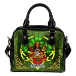 Burroughs Ireland Shoulder HandBag Celtic Shamrock | Over 1400 Crests | Bags | Premium Quality
