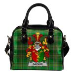 Gaynor or McGaynor Ireland Shoulder Handbag Irish National Tartan  | Over 1400 Crests | Bags | Water-Resistant PU leather