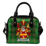 Willoughby Ireland Shoulder Handbag Irish National Tartan  | Over 1400 Crests | Bags | Water-Resistant PU leather