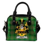 Harty or O'Haherty Ireland Shoulder Handbag Irish National Tartan  | Over 1400 Crests | Bags | Water-Resistant PU leather