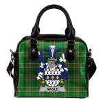 Nagle Ireland Shoulder Handbag Irish National Tartan  | Over 1400 Crests | Bags | Water-Resistant PU leather
