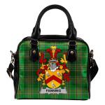 Fanning Ireland Shoulder Handbag Irish National Tartan  | Over 1400 Crests | Bags | Water-Resistant PU leather