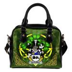 Gilchrist or McGilchrist Ireland Shoulder HandBag Celtic Shamrock   Over 1400 Crests   Bags   Premium Quality