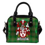 Carkham Ireland Shoulder Handbag Irish National Tartan  | Over 1400 Crests | Bags | Water-Resistant PU leather