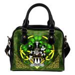 Young Ireland Shoulder HandBag Celtic Shamrock   Over 1400 Crests   Bags   Premium Quality