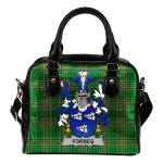 Forbes Ireland Shoulder Handbag Irish National Tartan  | Over 1400 Crests | Bags | Water-Resistant PU leather