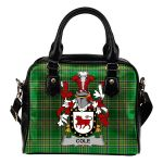 Cole Ireland Shoulder Handbag Irish National Tartan  | Over 1400 Crests | Bags | Water-Resistant PU leather