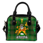 McDonagh or McDonogh Ireland Shoulder Handbag Irish National Tartan    Over 1400 Crests   Bags   Water-Resistant PU leather