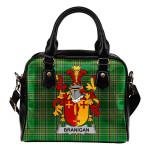 Branigan or O'Branagan Ireland Shoulder Handbag Irish National Tartan  | Over 1400 Crests | Bags | Water-Resistant PU leather