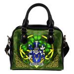 McFetridge Ireland Shoulder HandBag Celtic Shamrock   Over 1400 Crests   Bags   Premium Quality