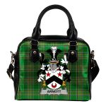 Arnott Ireland Shoulder Handbag Irish National Tartan  | Over 1400 Crests | Bags | Water-Resistant PU leather