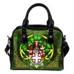 Wellesby Ireland Shoulder HandBag Celtic Shamrock | Over 1400 Crests | Bags | Premium Quality