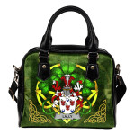 Lally or O'Mullally Ireland Shoulder HandBag Celtic Shamrock   Over 1400 Crests   Bags   Premium Quality