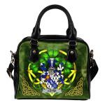Coyne or O'Coyne Ireland Shoulder HandBag Celtic Shamrock | Over 1400 Crests | Bags | Premium Quality