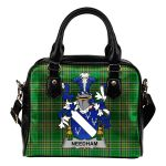 Needham or O'Nee Ireland Shoulder Handbag Irish National Tartan  | Over 1400 Crests | Bags | Water-Resistant PU leather