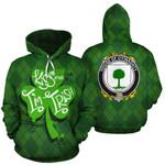 O'Finaghty Family Crest Ireland St Patrick's Day National Tartan Kiss Me I'm Irish