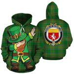 McQuillan Family Crest Ireland Dabbing St Patrick's Day National Tartan