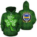 Jephson Family Crest Ireland St Patrick's Day National Tartan Kiss Me I'm Irish