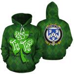 Ram Family Crest Ireland St Patrick's Day National Tartan Kiss Me I'm Irish