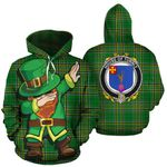 Turnly Family Crest Ireland Dabbing St Patrick's Day National Tartan