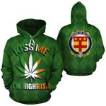 Alley Family Crest Ireland St Patrick's Day National Tartan Funny Kiss Me I'm Highrish