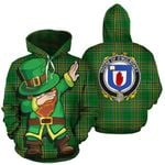 O'Mulroney Family Crest Ireland Dabbing St Patrick's Day National Tartan