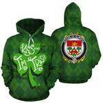 Elwood Family Crest Ireland St Patrick's Day National Tartan Kiss Me I'm Irish
