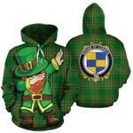 Cusack Family Crest Ireland Dabbing St Patrick's Day National Tartan
