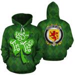 Hale Family Crest Ireland St Patrick's Day National Tartan Kiss Me I'm Irish