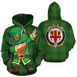 Bourke Family Crest Ireland Dabbing St Patrick's Day National Tartan